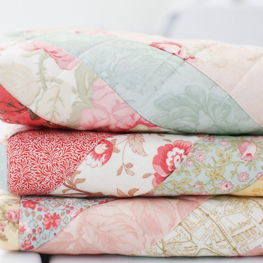 vintage paris floral quilt loganberry handmade Modern Vintage Floral Quilt Inspirations