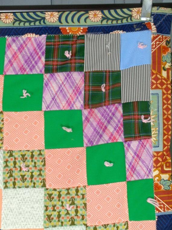 vintage patchwork quilt handmade farmhouse quilt boho bedding homemade reversible quilt blanket Elegant Vintage Patchwork Quilt Gallery