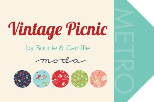 vintage picnic fabric patch patchwork quilting fabrics Unique Moda Vintage Picnic Quilt Gallery