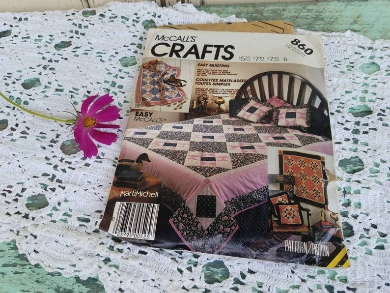 vintage quilting pattern uncut mccalls quilt pattern sewing supplies vintage quilt pattern with directions quilting supplies patterns Modern Mccalls Vintage Quilt Patterns