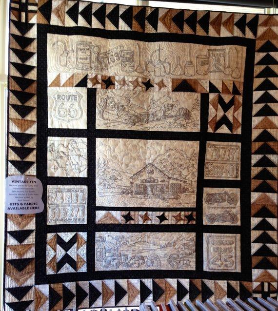 vintage tin quilt kit with pattern crabapple hill and Modern Vintage Tin Quilt Pattern