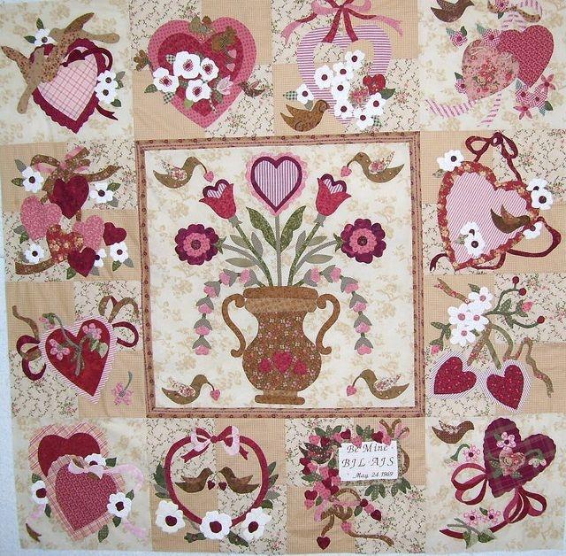 vintage valentine hearts for miss violet vintage Elegant Vintage Valentine Quilt Pattern Verna Mosquera Inspirations