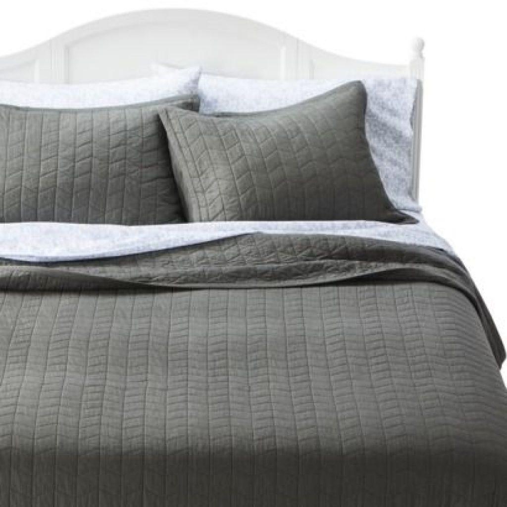 vintage washed solid quilt threshold room ideas grey Stylish Threshold Vintage Washed Quilt Inspirations