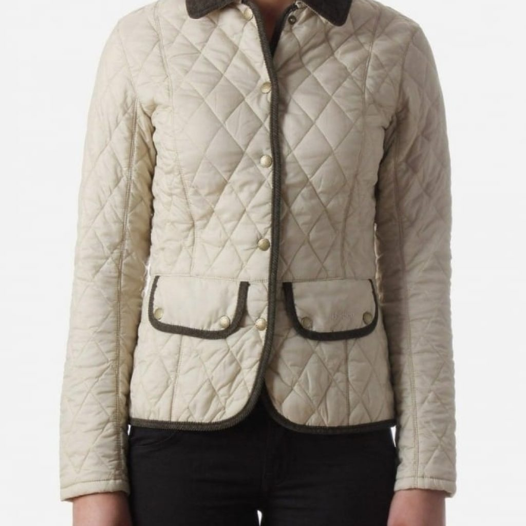 vintage womens quilt jacket pearl barbour vintage quilted Cool Barbour Vintage Quilted Jacket With Cord Collar And Trims