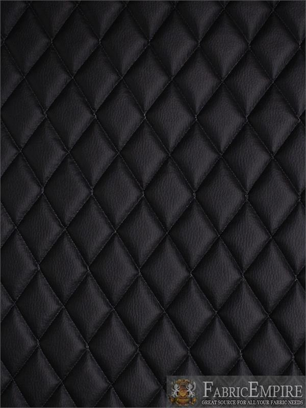 vinyl grain texture quilted foam black fabric 2 x 3 Stylish Black Quilted Fabric Inspirations