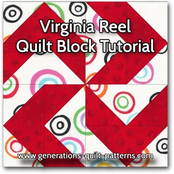 virginia reel quilt block an illustrated step step Cozy Virginia Reel Quilt Pattern Gallery