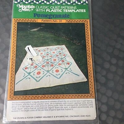 vtg mountain mist quilt pattern 31 pomegranate applique quilt sealed ebay Interesting Mountain Mist Quilt Patterns Gallery