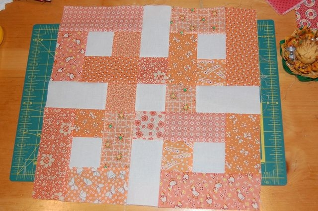 waste knot block orange quilting quilt blocks strip Stylish Waste Knot Quilt Instructions