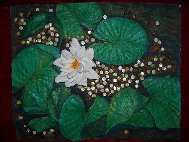 water lily art quilts japanese quilts hand quilting Interesting Water Lily Quilt Pattern Inspirations