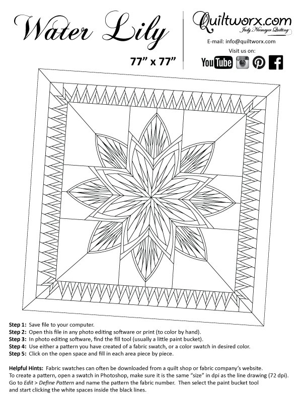 water lily Interesting Water Lily Quilt Pattern Inspirations