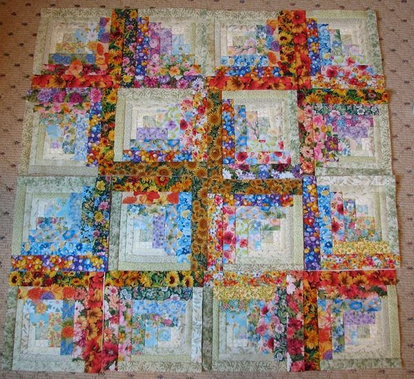 watercolor log cabin blocksbeautiful i really want to Unique Watercolor Quilt Patterns Gallery