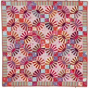 wedding ring quilt inspiration and free patterns quilt Cozy Pickle Dish Quilt Pattern