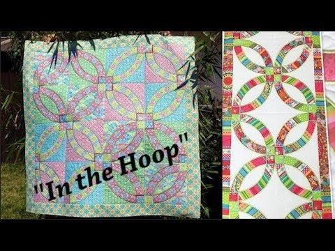 wedding rings quilt block tutorial made in the hoop youtube Quilt Sew Easy Hoop Gallery