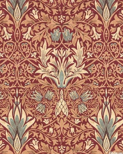 william morris merton snakehead damask quilt fabrics from Interesting Unique Damask Quilting Fabric