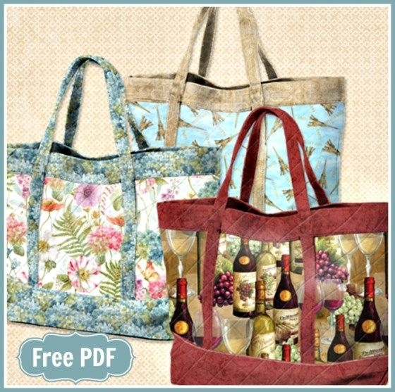 wilmingtons basic quilted tote bags quilted purse Stylish Quilted Handbags Patterns Inspirations