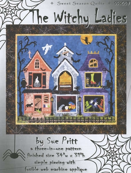witchy ladies pictorial applique quilt pattern Pictorial Quilt Patterns Gallery