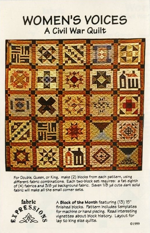 womens voices a civil war quilt Civil War Quilts Patterns