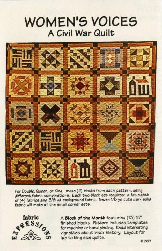 womens voices a civil war quilt Civil War Quilts Patterns