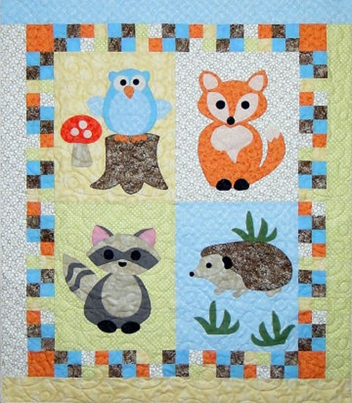 woodland babies quilt pattern ctg 166 quilting ba Modern Animal Patchwork Quilt Patterns Gallery