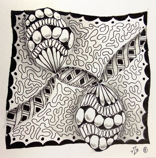 zentangle has already saved a quilt the bored zombie Cozy Zentangle Quilting Patterns Gallery
