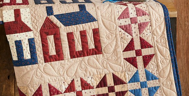 a delightful touch of americana for your home quilting digest Americana Quilt Patterns Gallery