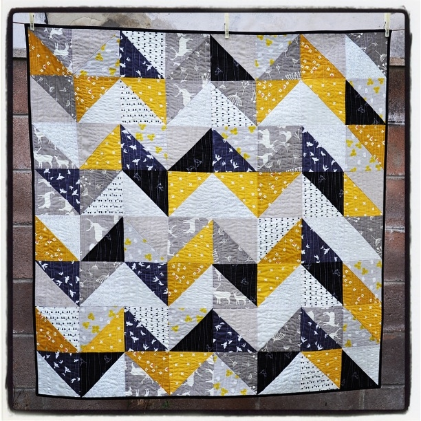 a second half square triangle quilt quilts from the attic Elegant Modern Half Square Triangle Quilts Gallery