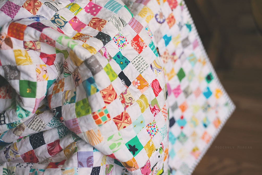 checkerboard postage stamp quilt modernly morgan Stylish Postage Stamp Quilt Pattern Inspirations