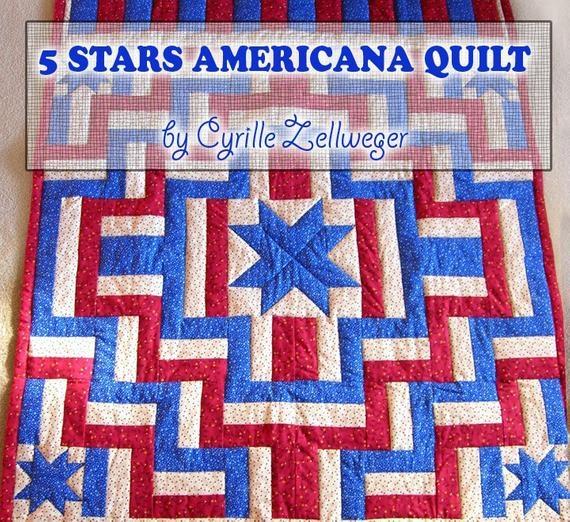 easy quilt pattern pdf 5 stars americana patriotic quilt Americana Quilt Patterns Gallery