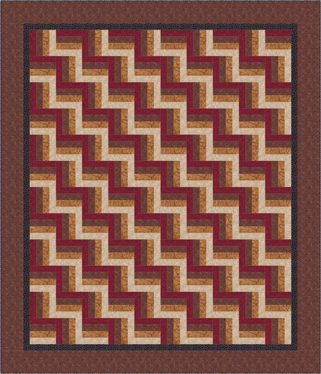 easy rail fence bed quilt pattern Rail Fence Quilt Patterns Gallery