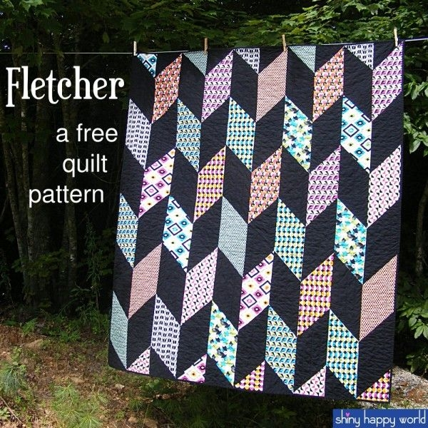 fletcher a free chevron quilt pattern beginner quilt Interesting Chevron Quilt Pattern Using Triangles Gallery