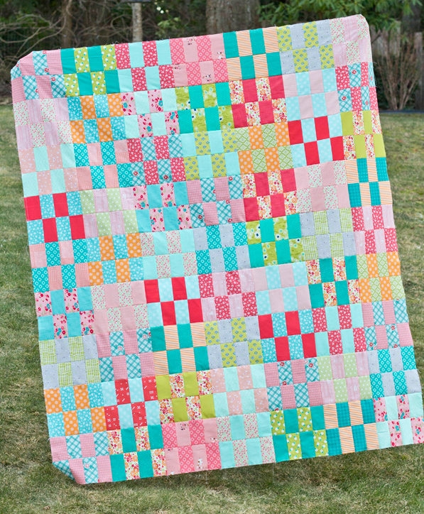 jelly strip stash buster quilt and tutorial cluck cluck sew Interesting Quilt Patterns For Jelly Roll Strips