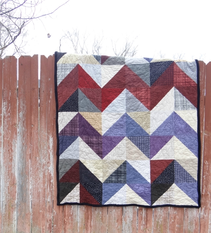 layer cake quilt chevron style tutorial patchwork posse Interesting Chevron Quilt Pattern Using Triangles Gallery