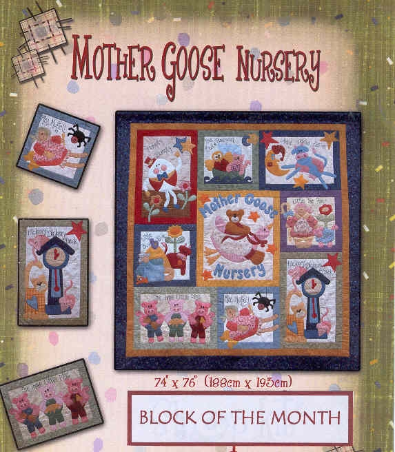 mother goose nursery block of the month patchwork pattern Unique Mother Goose Quilt Pattern Inspirations