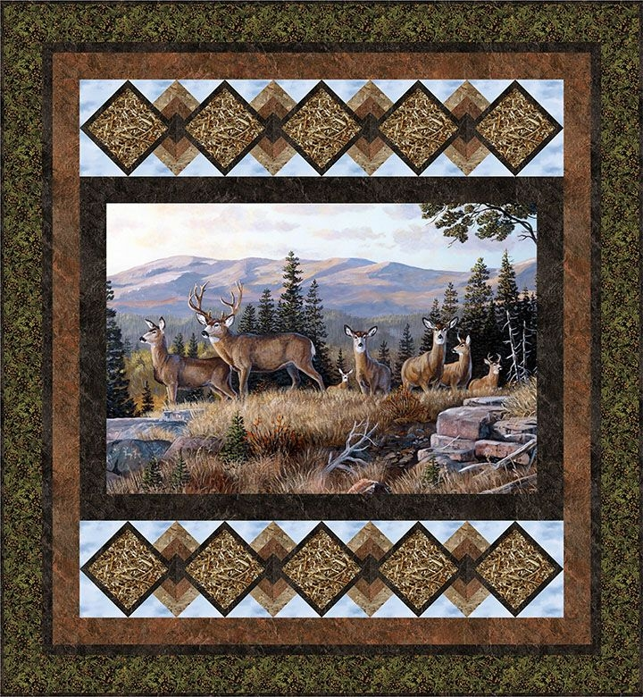 Permalink to Unique Wildlife Quilt Fabric Panels Inspiration Inspirations