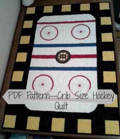 pdf patterncrib size hockey quilt littlepatches on etsy Modern Good Old Hockey Game Quilt Pattern Inspirations