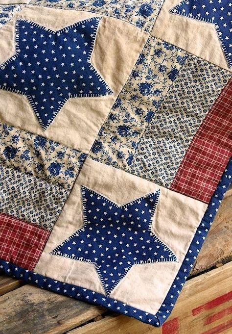pretty prim americana quiltsimple designlove the stars Americana Quilt Patterns Gallery