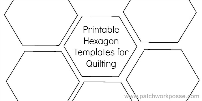 printable hexagon template for quilting pdf download Unique Hexagon Pattern For Quilting
