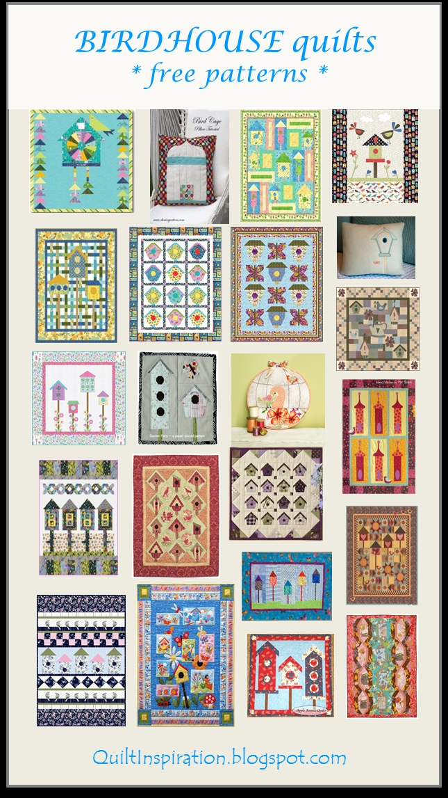 quilt inspiration free pattern day bird houses Elegant Birdhouse Quilt Patterns Gallery