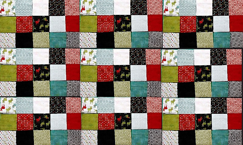strip piecing for a postage stamp quilt sewingmachinesplus Stylish Postage Stamp Quilt Pattern Inspirations