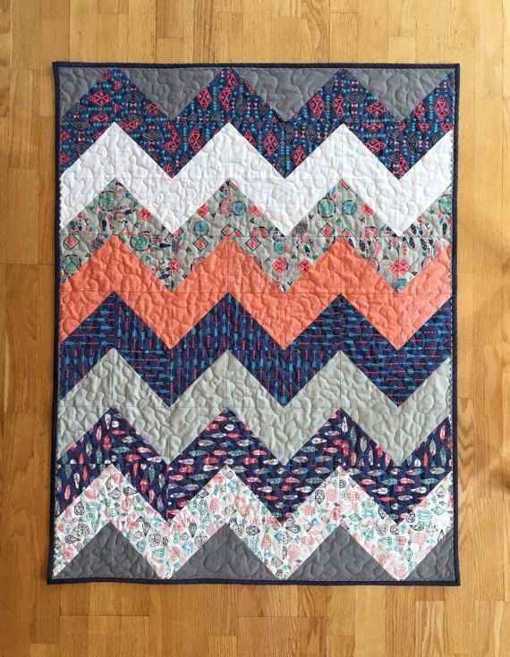 tribal ba quilt gender neutral ba quilt chevron ba Cozy Easy Chevron Quilt Pattern Inspirations