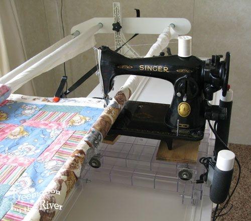 vintage 15 91 singer on a quilt frame quilting frames Stylish Best Vintage Singer Sewing Machine For Quilting