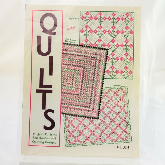 vintage aunt marthas quilting pattern book 14 patterns and borders Modern Vintage Quilt Patterns