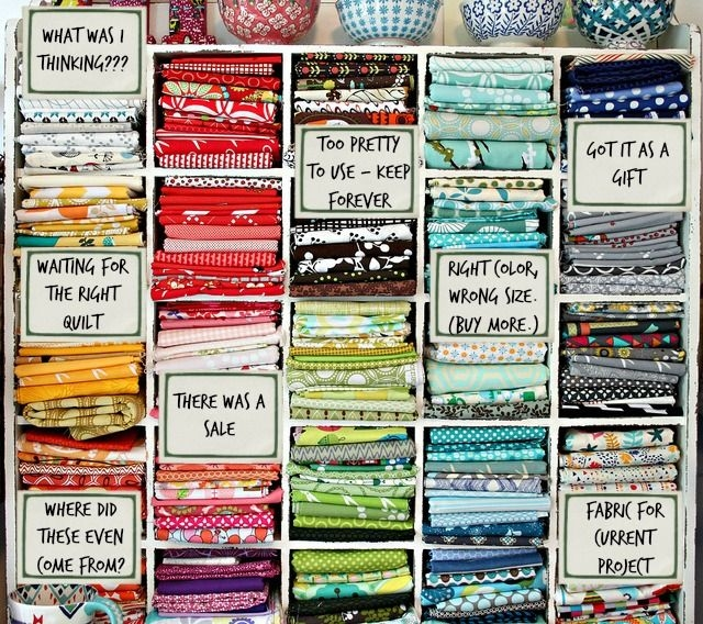 whats really in your fabric stash lol loving this funny Modern The Fabric Stash Quilting Sewing Store