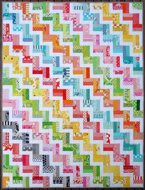 zig zag rail fence quilt pattern pdf red pepper quilts immediate download Rail Fence Quilt Patterns Gallery
