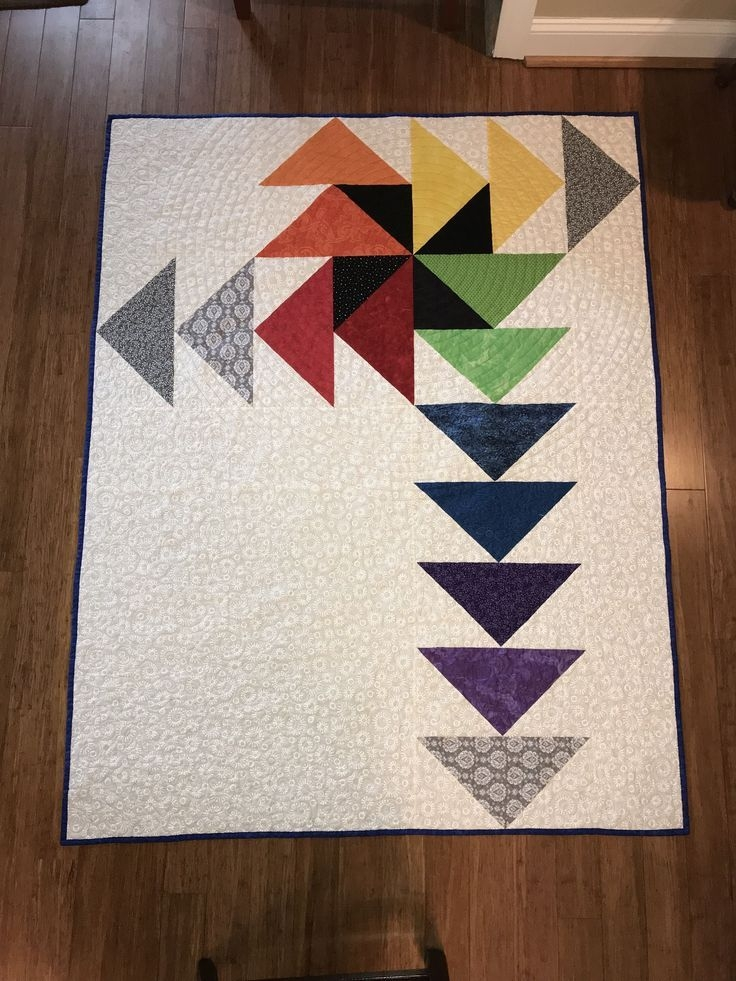 a contemporary version of the flying geese quilt modern Elegant Quilting Flying Geese Pattern Inspirations