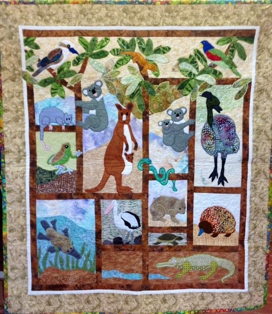 australian animals quilt animal quilts christmas quilts Cozy Australian Quilt Patterns Gallery