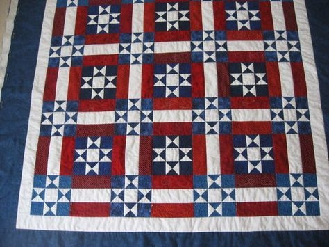 awesome redwhite blue quilt with free pattern patriotic Cozy Red White And Blue Quilt Patterns Gallery