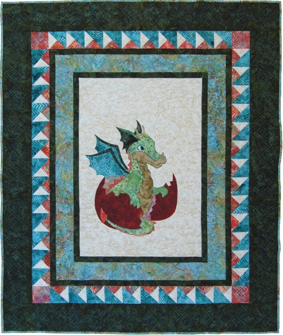 ba quilt pattern pdf dragon quilt ba shower gift ba boy quilt pattern appliqu dragon pattern dragon wallhanging pattern Elegant Applique Quilt Patterns For Babies