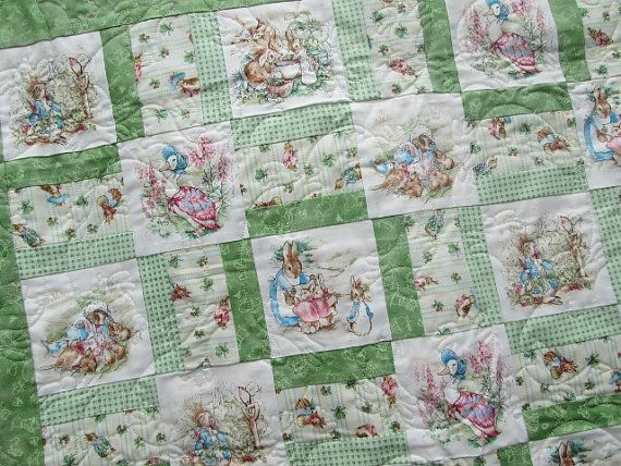 ba quilt peter rabbit jemima puddleduck mrs rabbit Cozy Peter Rabbit Quilt Pattern Inspirations