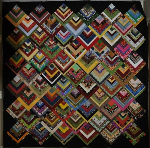 beautiful skills crochet knitting quilting half log Half Log Cabin Quilt Pattern